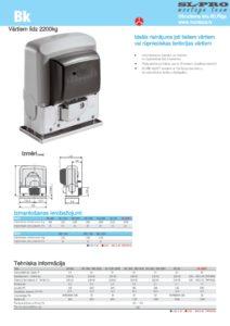 CAME BK tehniska informācija